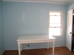 Gorgie desk with painted walls