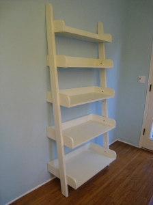 Side view of the bookcase