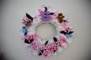 Diaper wreath (special thanks to Mandy!)